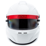 Roux Helmets RXHR3F-15W55-L : Helmet, R-1 Fiberglass, Loaded Model, Gloss White, Large, SA2015