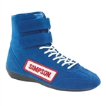 Simpson 28100BL : Driving Shoes, High-Top, Blue, Size 10.0, SFI 3.3/5