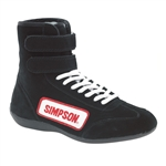 Simpson 28105BK : Driving Shoes, High-Top, Black, Size 10.5, SFI 3.3/5