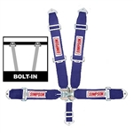 Simpson 29061BL : Seat Belt Harness, Latch & Link, 5-Point, Pull Up, Blue, SFI 16.1