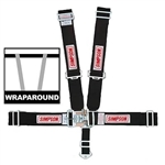 Simpson 29064BK : Seat Belt Harness, Latch & Link, 5-Point, Pull Down, Black, SFI 16.1