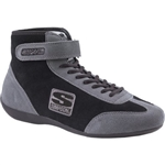 Simpson MT850BK : Driving Shoes, Mid-Top, Black/Gray, Size 8.5, SFI 3.3/5