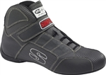 Simpson RL600K-F : Driving Shoes, Red Line, Black/Gray, Size 6.0, SFI 3.3/5/FIA