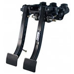 Tilton 72-601 : Brake / Clutch Pedals, Firewall Mount, Aluminum, Black