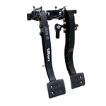 Tilton 72-901 : Brake / Clutch Pedals, Firewall Mount, Black (NASCAR Approved)