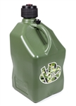 VP Racing Fuels 3842 : Utility Jug, 5 Gallons, Square, Plastic, Camo