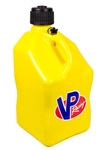 VP Racing Fuels 3552 : Utility Jug, 5 Gallons, Square, Plastic, Yellow
