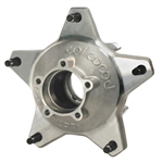 Wilwood 270-6735D : Wheel Hub, Starlite, Wide 5, Aluminum, Natural, Front, Drilled Studs