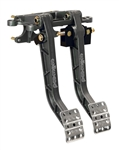 Wilwood 340-11295 : Brake / Clutch Pedals, Forward Mount, Aluminum, Black