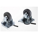Zarges 40741 : Pair of Clip-On Castors, Fixed