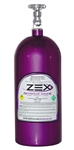 Zex 82000 : Nitrous Bottle, 10 lbs, Aluminum, Purple Powdercoated