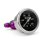 "Zex 82341 : Gauge, Nitrous Pressure, Liquid Filled, 0-1,500 PSI, 1-1/2"", Analog, Mechanical"