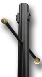 84 black aluminum lamp post with photo eye outlet. Black Bedroom Furniture Sets. Home Design Ideas
