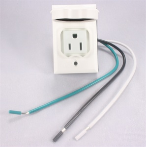Add-On Lamp Post Outlet, White