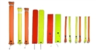 Diver's Alert Marker, 3.3' (1 m ) long, oral inflate with OPV, orange  *Buy at DIVESEEKERS.com 888-SCUBA-47