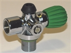 Inline Rebreather Valve Green Handle  BS-18040  *Buy Blue Steel at DIVESEEKERS.com 888-SCUBA-47