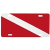 Metal Dive Flag License Plate, GA65 *Buy Trident at DIVESEEKERS.com 888-SCUBA-47