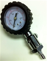 Intermediate Pressure Gauge PSI & BAR with push button bleeder TRI-SA26 *Buy Trident at DIVESEEKERS.com 888-SCUBA-47