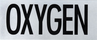 Oxygen Decal  *Buy at DIVESEEKERS.com 888-SCUBA-47