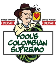 Fool's Decaf Swiss Water Colombian Supremo / 12oz