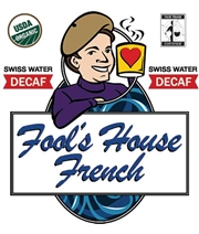 Fool's Decaf Organic Fair Trade House French Pods - 18 Single Serve