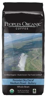 Peoples Organic Peruvian Sky Decaf 10oz