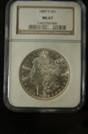 NGC Certified1882 S Morgan Dollar MS-67