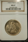 NGC Certified 1938 D Texas Commemorative Half MS-67