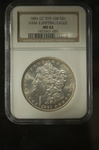 NGC Certified 1891 CC Morgan Dollar TOP-100 VAM-3 MS-62