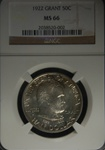 NGC Certified 1922 Grant Commemorative Half Dollar MS-66