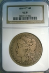 NGC Certified 1889 CC Morgan Dollar VG-8