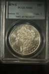 NGC Certified 1879 S Morgan Dollar MS-65