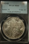 PCGS Certified 1883 O Morgan Dollar MS-65