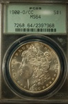 PCGS Certified 1900 O/CC Morgan Dollar MS-64