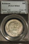 PCGS Certified 1936 Robinson Commemorative Half MS-64
