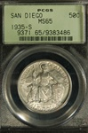 PCGS Certified 1935 S San Diego Commemorative MS-65