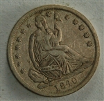 1840 Seated Liberty Half Dime