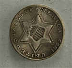 1855 Three Cent Piece Silver