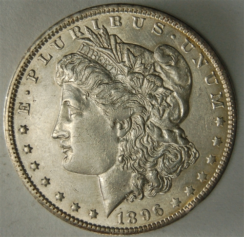 1896 O Morgan Silver Dollar Au