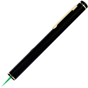 Elegant green laser pointer! 30 times brighter than red laser pointers.