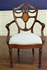"Leighton  Hall ""Inlaid Shield Back"" Fine Dining Armchair, Conference Armchair"