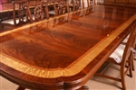 American Large Flaming Mahogany Conference Table 13 + Ft Long LH-5-3L