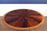 "Leighton Hall Pie Cut Mahogany 60"" Round  Conference Table"