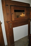 Golden Oak Fireplace Mantle