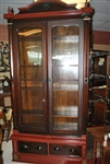 Victorian Bookcase, Display Cabinet