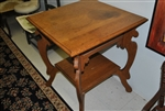 Square Oak Side, Lamp Table