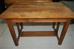 Antique Child's Size Oak Mission Arts & Crafts Library Table, Desk Circa 1920