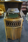Antique Sonora Phonograph Mahogany Cabinet