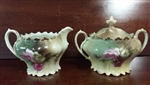Antique Sugar, Creamer, Austrian Hand Painted