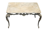 Antique Marble Top French Rococo Coffee Table  Ca1930
